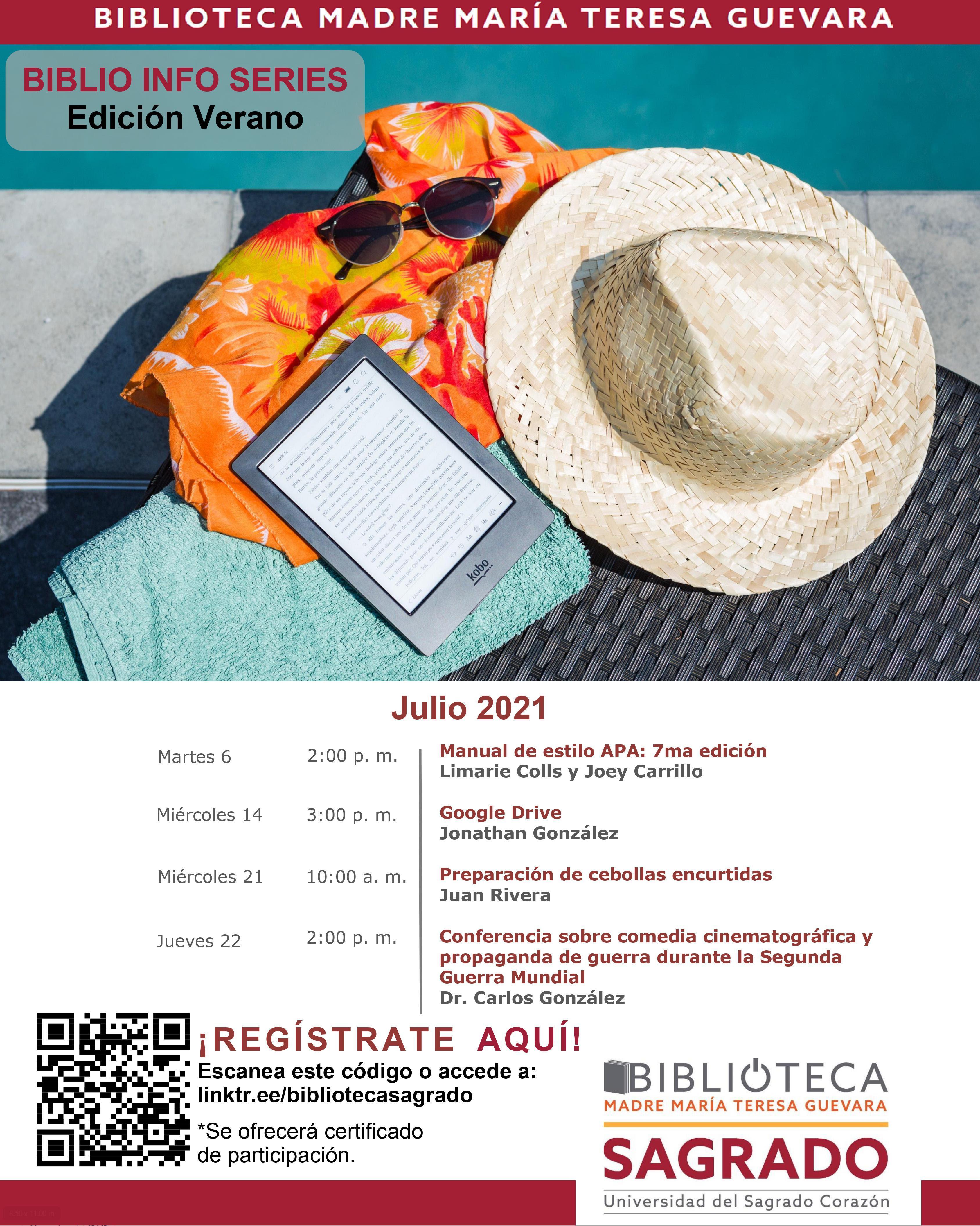 Imagen promocional biblio info series julio
